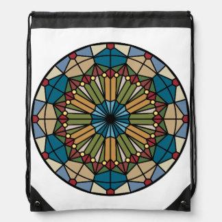 diseño geométrico del modelo del vitral moderno mochilas