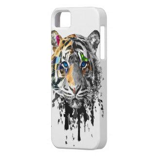 Diseño geométrico del tigre iPhone 5 protectores