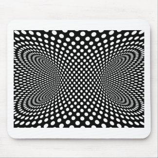 Diseño geométrico espacial de la ilusión óptica alfombrillas de ratones