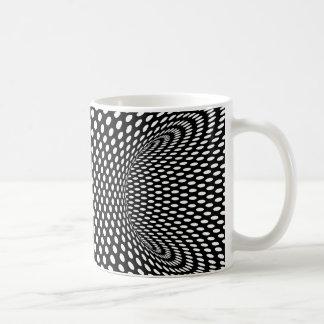 Diseño geométrico espacial de la ilusión óptica tazas de café