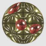 Diseño geométrico fresco pegatina redonda