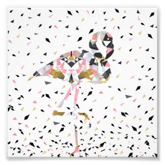 Diseño geométrico lindo del extracto del flamenco fotografía