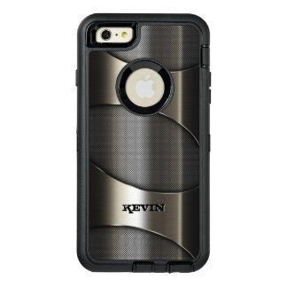 Diseño geométrico moderno de la textura metálica funda OtterBox defender para iPhone 6 plus