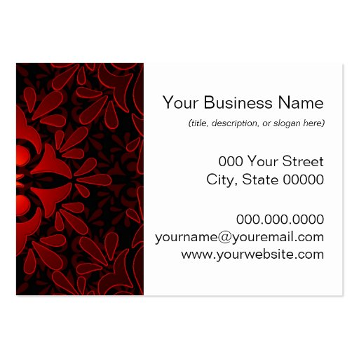 Diseño geométrico moderno negro anaranjado rojo tarjetas de visita grandes