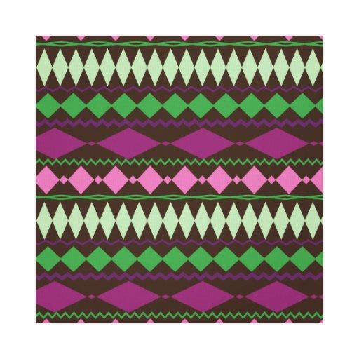 Diseño geométrico tribal colorido del modelo lona estirada galerias