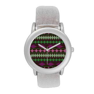 Diseño geométrico tribal colorido del modelo relojes