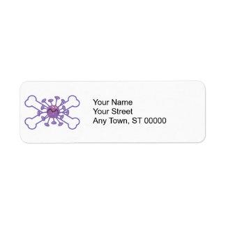 diseño germy púrpura del germen y de la bandera pi etiqueta de remite