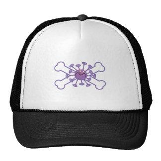 diseño germy púrpura del germen y de la bandera pi gorra