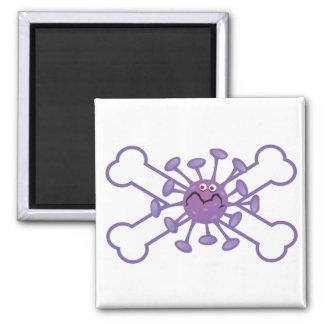 diseño germy púrpura del germen y de la bandera pi imán
