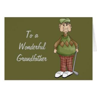 Diseño Golfing del abuelo Tarjeta De Felicitación