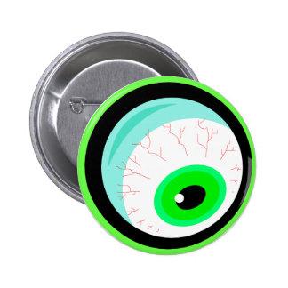 Diseño Googly del ojo del insecto Pin Redondo De 2 Pulgadas