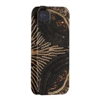 Diseño goteado vintage del monedero iPhone 4/4S carcasa