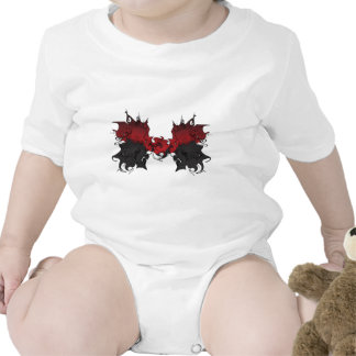 Diseño gótico 3 del corazón del logotipo traje de bebé