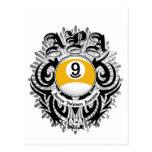 Diseño gótico de la bola de APA 9 Tarjetas Postales