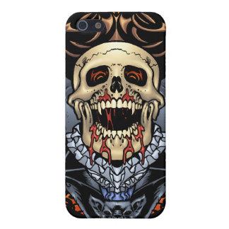 Diseño gótico de los cráneos, de los vampiros y de iPhone 5 funda