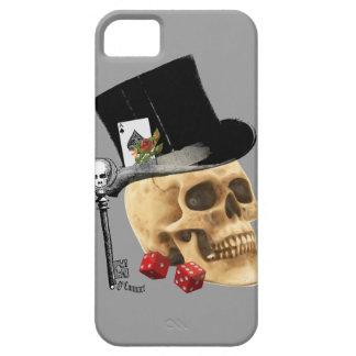Diseño gótico del tatuaje del cráneo del jugador iPhone 5 carcasas