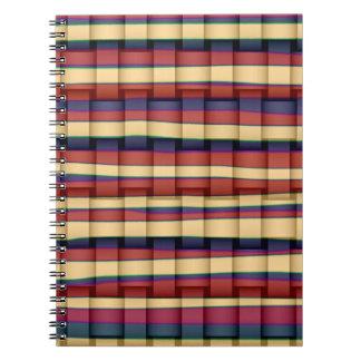 Diseño gráfico 2 del arte colorido de las rayas libreta espiral