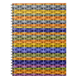 Diseño gráfico 2 del arte de mimbre colorido de la libros de apuntes