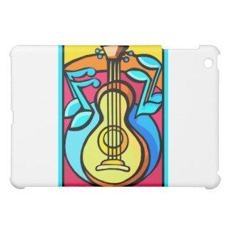 Diseño gráfico abstracto de las notas de la guitar