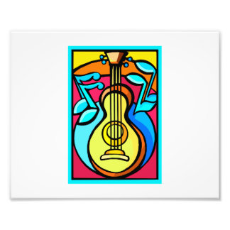 Diseño gráfico abstracto de las notas de la guitar impresiones fotograficas