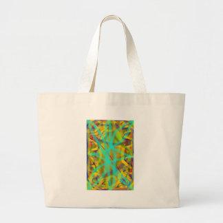 diseño gráfico abstracto de ordenador de la carta  bolsa tela grande