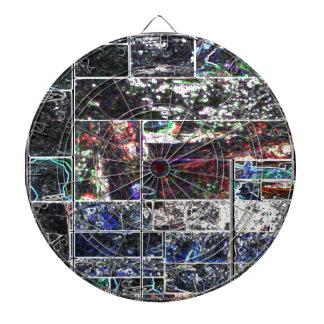 Diseño GRÁFICO abstracto NEGRO de KOOLshades Tablero Dardos