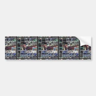 Diseño GRÁFICO abstracto NEGRO de KOOLshades Pegatina Para Auto