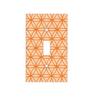 Diseño gráfico anaranjado del modelo del círculo cubierta para interruptor