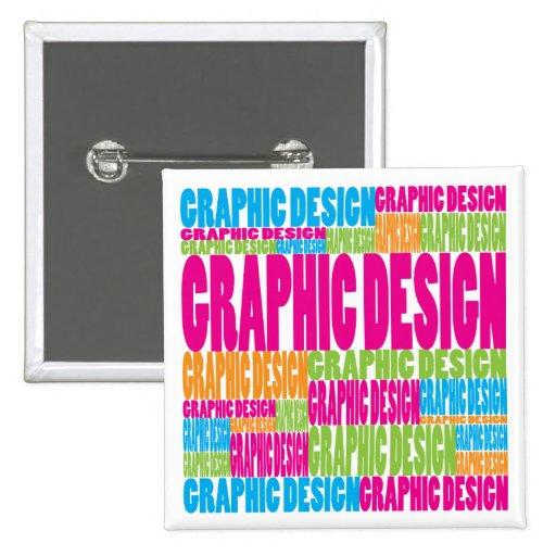 Diseño gráfico colorido pins