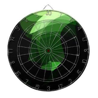 Diseño gráfico cristalino verde tablero dardos
