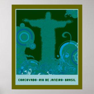 Diseño gráfico de Corcovado Posters