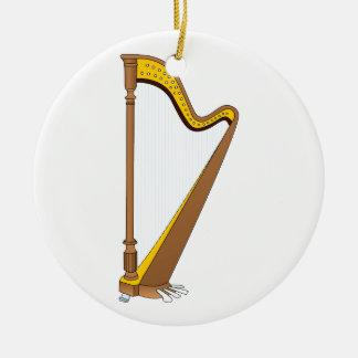 Diseño gráfico de la arpa del pedal del concierto adornos