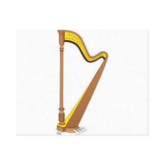 Diseño gráfico de la arpa del pedal del concierto lona envuelta para galerías