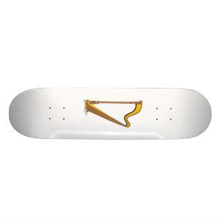 Diseño gráfico de la arpa del pedal del concierto patin personalizado