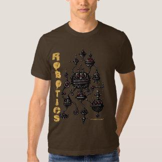 Diseño gráfico de la camiseta de la robótica remera