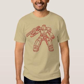Diseño gráfico de la camiseta del soldado del robo playeras