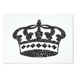 Diseño gráfico de la corona invitacion personalizada