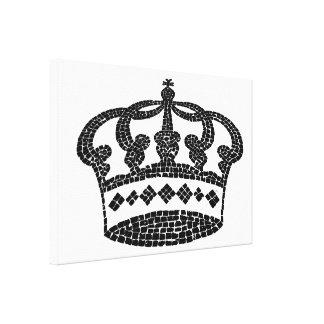 Diseño gráfico de la corona impresión en lona