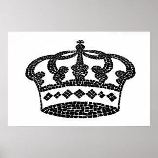 Diseño gráfico de la corona posters
