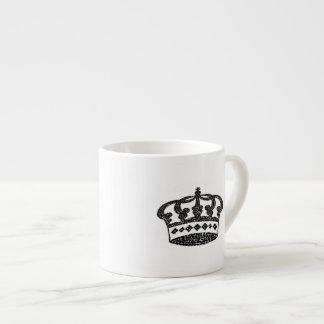 Diseño gráfico de la corona taza espresso