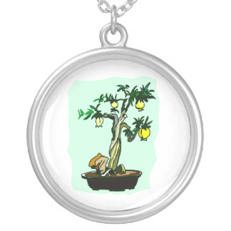 Diseño gráfico de la imagen de los bonsais de la f pendientes personalizados