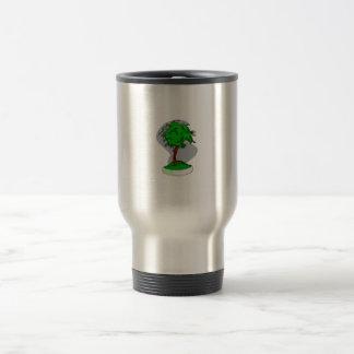 Diseño gráfico de la imagen de los bonsais jovenes taza de viaje de acero inoxidable