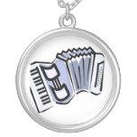 Diseño gráfico de la imagen del acordeón azul, mús joyería