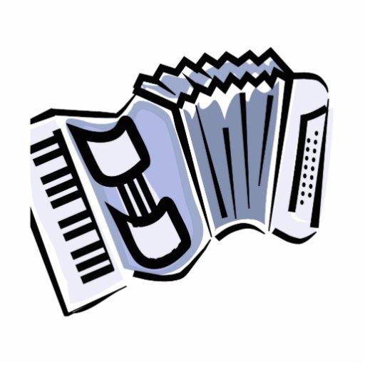 Diseño gráfico de la imagen del acordeón azul, mús escultura fotografica