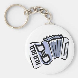 Diseño gráfico de la imagen del acordeón azul, mús llavero redondo tipo pin