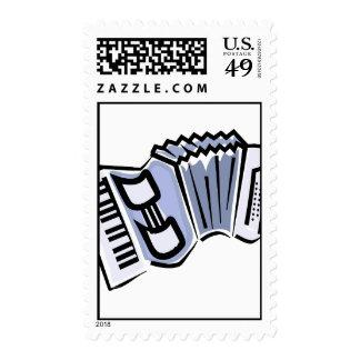 Diseño gráfico de la imagen del acordeón azul mús
