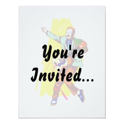 Diseño gráfico de la imagen del Rockabilly del Invitacion Personalizada