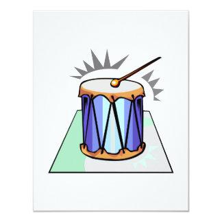 Diseño gráfico de la imagen del tambor de la invitación 10,8 x 13,9 cm