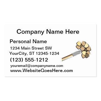 Diseño gráfico de la imagen del traqueteo del pali tarjeta de negocio