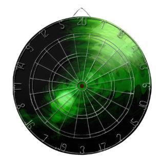 Diseño gráfico de la luz verde tabla dardos